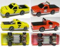 2007 Life Like NASCAR TRUCK CHEVY VS FORD Slot Cars
