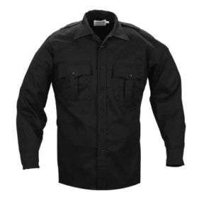 Elbeco TekTwill Duty Uniforms Long Sleeve Shirts Black