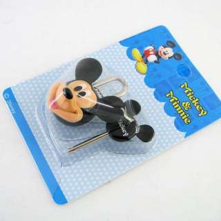 Mickey Mouse Cartoon Mini Pad Lock With Key Safety