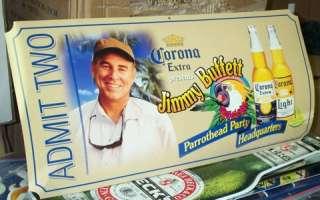 Corona Extra Jimmy Buffett ticket parrothead sign new