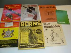 Vintage Sporting, Hunting, Fishing Catalogs Manuals Lot