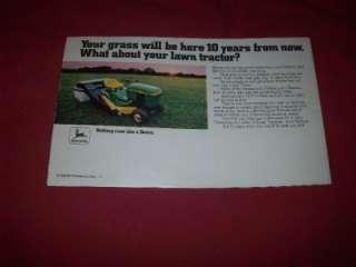 1979 John Deere 314 317 400 Lawn Tractor Brochure 108 111 850 950 68