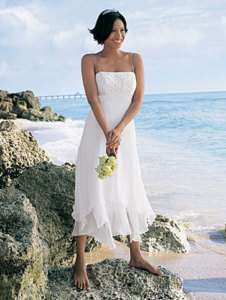 Chiffon Beach Bridal Wedding Gown prom gown 4 6 8 10 28