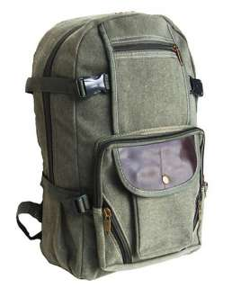 MILITARY INSPIRED CANVAS BACKPACK LAPTOP BAG OLIVE DRAB