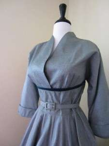 50s Party Dress Teal Green Taffeta Full Skirt XL XXL Prom Wedding Lucy