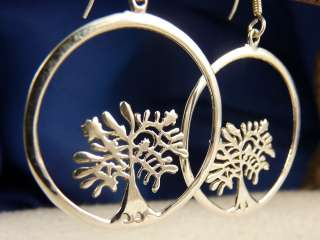 Round 925 Sterling Silver Beautiful Contemporary SilverSari Jali Tree