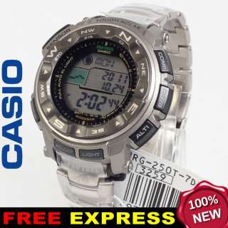 Casio Men PROTREK Titanium Solar Watch Xpress +Box PRG 250T 7D