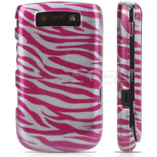 HOT PINK ZEBRA HARD CASE FOR BLACKBERRY TORCH 9800 9810