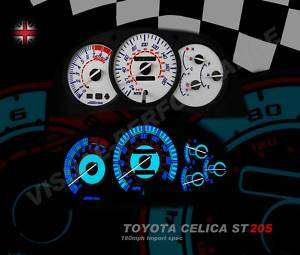TOYOTA CELICA GT4 ST205 180MPH PLASMA GLOW DIAL KIT