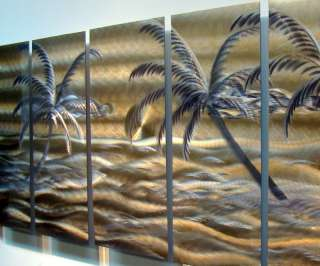 Tropical Modern Abstract Metal Wall Art Office Decor Sculpture Golden