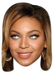 Beyonce Card Mask Beyonce Mask Fancy Dress Mask Beyonce