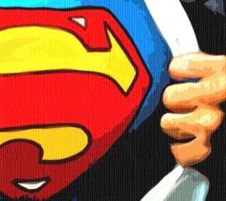 SUPERMAN Pop Art Box Canvas MASSIVE 40 x 20 Free P&P