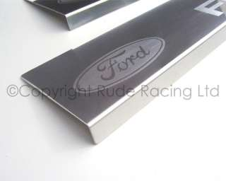 Richbrook Ford Logo Stainless Steel Car Sill Protectors Ford Fiesta