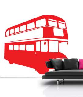 London Bus Retro Vinyl Wall sticker decal quotes