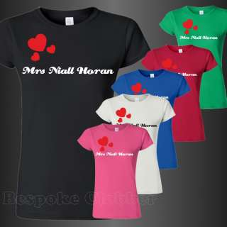 Mrs Niall Horan One Directions Ladies T shirt shirts sizes S M L XL