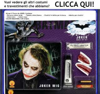 Parrucca e Trucco Costume Carnevale Joker di Batman