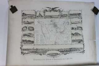 alte Karte Erinnerung an die Schlacht bei Bad Langensalza 1866