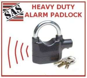 SCREAMER ALARM PADLOCK SHED GARAGE DISC LOCK SIREN 110d
