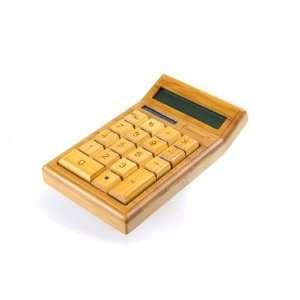 Bamboo Custom Carved Calculator Electronics
