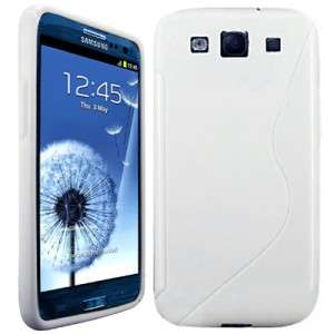 WHITE S LINE FLEXISHIELD SOFT CASE COVER POUCH FOR SAMSUNG GALAXY S3