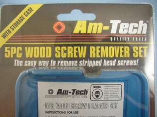 5pc Wood Screw Remover Set, Am Tech Tools, S5195