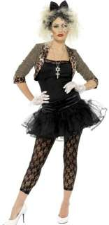 1980s MADONNA FANCY DRESS COSTUME 80s WOMENS GIRLS WILD CHILD OUTFIT
