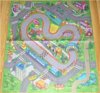 CHILDRENS Race Track PLAYMAT RUG TOY CAR SAFE PLAY MAT