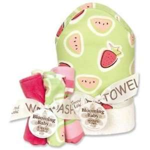 Trend Lab 21037 Blooming Bouquet Juicie Fruit Hooded Wash Cloth