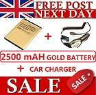 2500mAH BATTERY SAMSUNG GT S3850 S3350 Chat@335 S5530 + CAR CHARGER