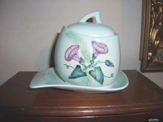 Carlton Ware Raised Floral Preserve Pot & Stand #2466