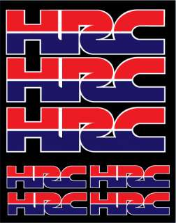 KIT 7 ADESIVI HRC HONDA RACING MOTO GP CBR HORNET DECAL