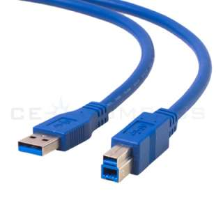 USB 3.0 A to USB B Male AB M/M Printer Cable Cord Wire A B 10FT