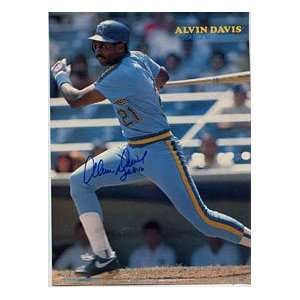 Alvin Davis Autographed/Signed Magazine Page Everything