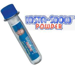 Insta Snow Powder Be Amazing! 10 g. Tube Instant Fake Christmas
