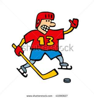 Ice Hockey Player (Cartoon Character) Stock Vector 41090827