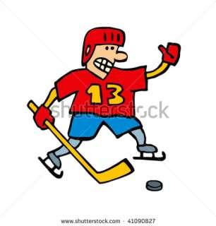Ice Hockey Player (Cartoon Character) Stock Vector 41090827