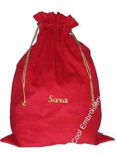 Personalised BIG Cord Christmas Santa Sack Bag Gathers