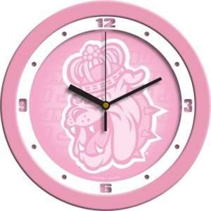 James Madison Dukes NCAA Wall Clock (Pink)  Sports