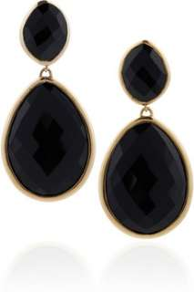 18 karat gold vermeil black onyx earrings   55% Off Now at THE OUTNET