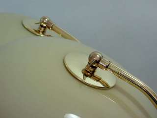 PAIR ART DECO Bauhaus BRASS Glass TABLE LAMPS BEDSIDE LAMPS 1930s