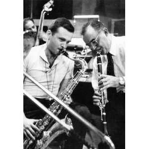 Benny Goodman w/ Stan Getz Poster, Iconic Jazz Musicians