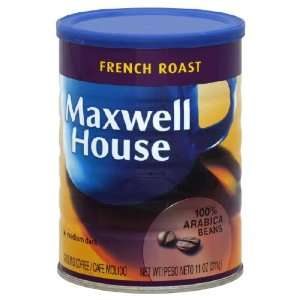 Maxwell House Coffee, French Roast, 11 oz (Pack of 6)