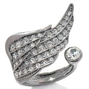 Paula Abdul FYG Inspirational Angel Wing Crystal Ring