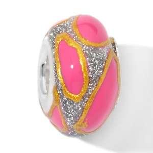 Bacio Hot Pink Enamel Art Series Bead Charm