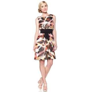 Tiana B. Light & Lovely Printed Chiffon Dress with Belt