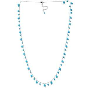 Heritage Gems Sleeping Beauty Turquoise Sterling Silver 36 Necklace