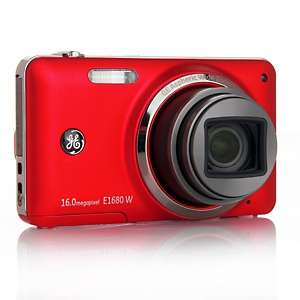 GE E1680W 16MP 8X Zoom Digital Camera with Carry Case and Software