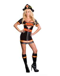 Womens sexy Smokin Hot Firefighter Costume  Wholesale Firefighter