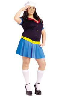 Ms. Popeye Plus Size Costume for Halloween   Pure Costumes