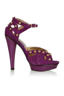 Purple Kerrin Suede Studded Shoe by Steve Madden   Pink   Buy Shoes